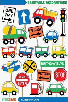 Hawaiian Party Decorations, Birthday Party Decorations, Cars Birthday Parties, 2nd Birthday, Birthday Cakes, Happy Birthday, Cumple Toy Story, Transportation Birthday, Bear Party