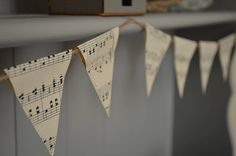 vintage music mini bunting by grace & favour home | notonthehighstreet.com