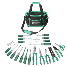 22-Piece Electrician's Tool Set With Heavy Duty Durable Pocket Storage Tote Bag #CommercialElectric