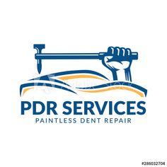 Paintless Dent Repair logo, PDR service logo, automotive company - Buy this stock vector and explore similar vectors at Adobe Stock Service Logo, Garage, Wallpapers, Stock Photos, Logos, Car, Carport Garage, Automobile, Wallpaper