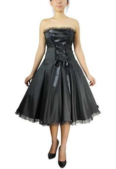 Plus Size Black Gothic Corset Ribbon Lace Dress [60110] - $49.99 : Mystic Crypt, the most unique, hard to find items at ghoulishly great prices!