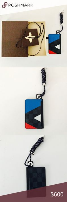 Louis Vuitton America's Cup 2016 Brand new lanyard card case.  Comes with box and dustbag. Please see pics. Louis Vuitton Accessories Key & Card Holders