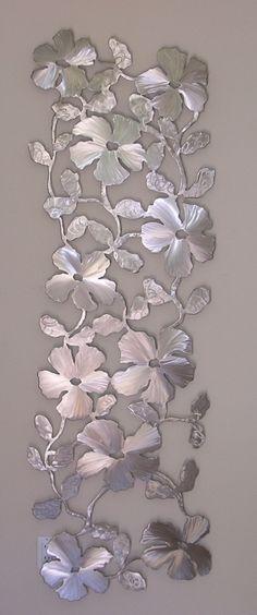 hibiscus bascom eye institute steel sculpture metal work - Metal Wall Designs