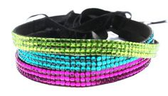 Rhinestone Headband 3 Pack Set Neon Girl | Neon Lime Green, Neon Blue, Neon Purple Headwrap Tie Back by Lac Beauty Supply ** Be sure to check out this awesome product.