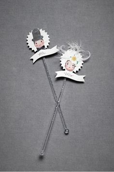 Vintage couple drink-stirrers: I'll probably make it a DIY project but available bhdln.com