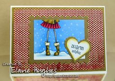 Cute way to use just legs :) Stamping Bella - Uptown Girl Quinn - www.quixoticcards.com/blog