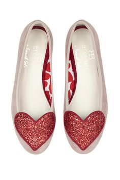 Designed in collaboration with French Sole, these super stylish love heart flats add a bit of fun to any outfit with their cute heart detail vamp.  25% of profits from the sale of each pair are donated to The Beulah Trust which supports victims of trafficking.