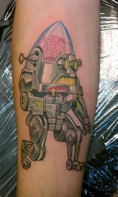 12 Best Robot Tattoo S Images On Pinterest Robot Tattoo Robot And