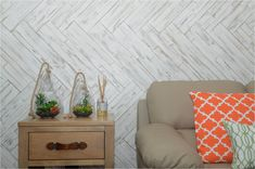 """MyWoodWall """"Brushed Coral"""" peel & Stick wood wall panels Timber Wall Panels, Timber Walls, Timber Panelling, Wood Panel Walls, Wooden Walls, Wood Paneling, Stick On Wood Wall, Peel And Stick Wood, Plasterboard Wall"""