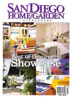 Cover of San Diego Home & Garden. Robbieinteriors.com