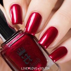 A-England Perceval Live Love Polish ❤ liked on Polyvore featuring beauty products, nail care and nail polish