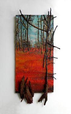 Andrew Csafordi encaustic and wood – Malerei Wax Art, Encaustic Art, Assemblage Art, Art Moderne, Driftwood Art, Art Mural, Texture Painting, Painting Art, Art Techniques
