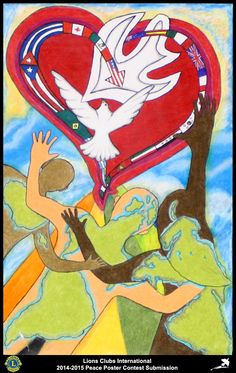 2014-15 Lions Clubs International Peace Poster Competition submission from Hato Rey Lions Club in Puerto Rico