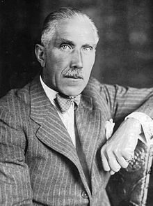 Franz von Papen  (1879 – 1969) served as Chancellor of Germany in 1932 and as Vice-Chancellor under Adolf Hitler in 1933–1934. He belonged to the group of close advisers to Hindenburg in the late Weimar Republic. It was largely Papen, believing that Hitler could be controlled once he was in the government, who persuaded Hindenburg to appoint Hitler as Chancellor in a cabinet not under Nazi Party domination.