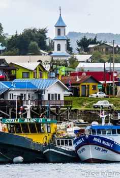 Town of Dalcahue in Chiloé Island, Chile. Juan Fernandez, Dry Desert, Wonders Of The World, South America, Mexico, City, Iglesias, Travel, Backgrounds