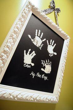 Kids handprints for art Love love love love this