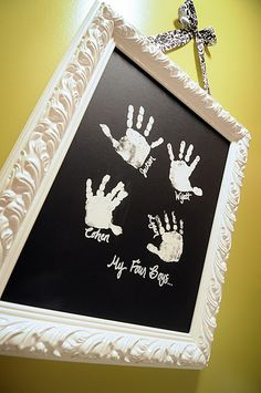 Kids handprints for art Love love love love this