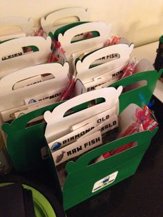 individual candy bags containing minecraft treasures