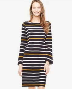 a9cd77c3fc3cf Shop Ann Taylor for effortless style and everyday elegance. Our Striped  Knit Shift Dress is the perfect piece to add to your closet.