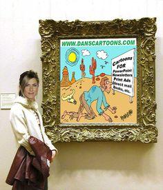 Jennifer soaking up one of Dan's cartoon promotionals - http://danscartoons.com