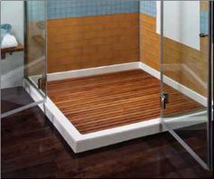 Teak Shower Floor Inserts | Various Pre Made Sizes Or Custom.