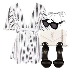 """Untitled #3526"" by camilae97 ❤ liked on Polyvore featuring Yves Saint Laurent, CÉLINE and Lilou"
