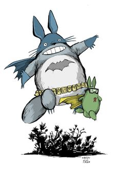 Totoro Rises... 'cause everyone wants to be Batman!