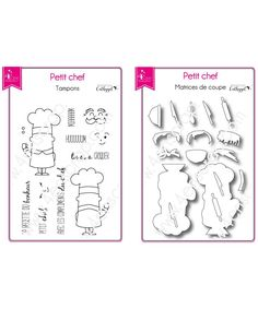 Petit chef Tampons Transparents, Scrapbooking, Bullet Journal, Kitchen Workshop, Emboss, Matching Colors, Ink Stamps, Products, Scrapbook