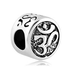 Om Symbol Aum Love Yoga Lucky Charms Jewelry Bead Fits Pandora Charm Bracelets