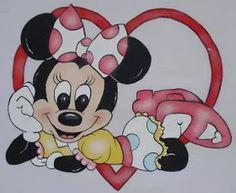 Mickey E Minie, Mickey Mouse, Textiles, Baby Disney, Disney Magic, Disney Characters, Fictional Characters, Kawaii, Diy Crafts