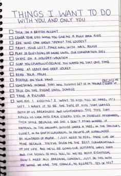this is so cute <3 I want to a crazy to do list with a boyfriend sometime before I die (: