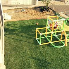 Entrance/庭/DIY/レンガ/人工芝のインテリア実例 - 2013-11-13 11:48:25