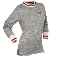 Women's Renu Heather Gray Ohio State Buckeyes Crew Neck Sweater