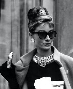 "Audrey Hepburn in ""Breakfast at Tiffany's"" (Oliver Goldsmith sunglasses)"