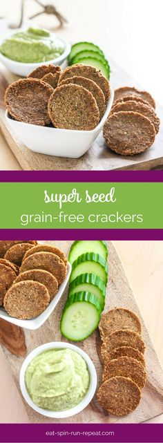 Super Seed Grain-Free Crackers - These crackers have a base of flaxseed and are super easy to make. They're also vegan, gluten-free and full of healthy fats.