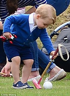 Kate Middleton and Prince George play at the polo as she unveils slim figure | Daily Mail Online