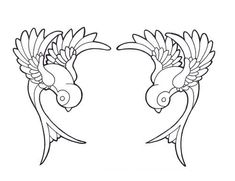 Sparrows-- would make a pretty embroidery pattern for the corners of a guest towel.