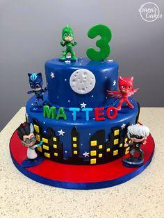 PJ Masks Gluten Free Recipes vegan and gluten free Pj Masks Birthday Cake, 5th Birthday Cake, 5th Birthday Party Ideas, Ballerina Birthday, Baby Boy 1st Birthday, Boy Birthday Parties, Torta Pj Mask, Pjmask Party, Birthday Dinner Menu