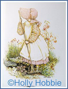 Wonderful book about the watercolor painter, Holly Hobbie.  Creator of the very popular Holly Hobbie illustrations widely marketed in the 1970's by American Greetings Corp. and others. Copyrighted illustrations.