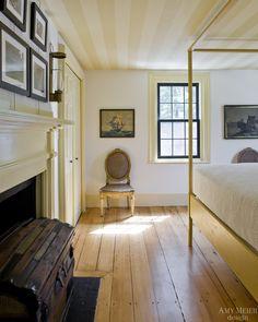 Amy Meier Design, Rockport Yellow Guest Bedroom