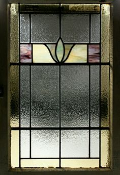 Stained glass vintage window
