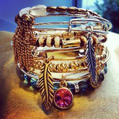 Obsessed with Alex and Ani bracelets<3 Click to get a discount!