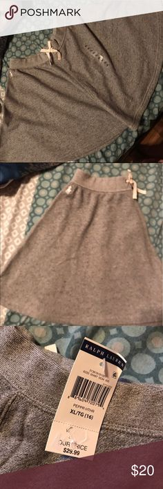 Polo sweater skirt Loose fit! Sweater material skirt with flare. Ralph Lauren Bottoms Skirts