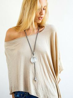 silver lariat necklace, long statement  necklace, leather necklace, pendant necklace, gift for her, any occasion necklace, wrapped stone.