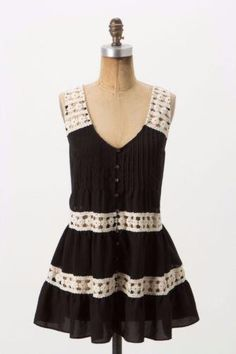 ANTHROPOLOGIE VANESSA VIRGINIA sz 4 MELISANDE tank black crochet EUC | Clothing, Shoes & Accessories, Women's Clothing, Tops & Blouses | eBay!