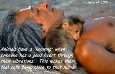 Animals have a 'knowing' when someone has a good heart through their vibrations.