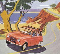 Renault 4L  (Poster).  v@e.