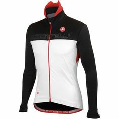 Castelli Poggio Jacket - Men's White/Black/Red, XXL - Men's - http://ridingjerseys.com/castelli-poggio-jacket-mens-whiteblackred-xxl-mens/