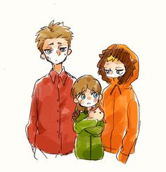 The brothers McCormicks - Poor children South Park - Anime Style | VK