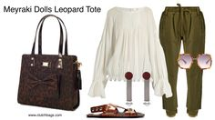 I love this off duty look, it's great for NYC weekends. And it's easy to style with this awesome Tote by Meyraki Dolls! What do you think? Shop today @ Clutchbags.com Made in USA Clutch It and Go! www.clutchbags.com https://www.clutchbags.com/meyraki-dolls #leopard #tote #meyrakidolls #madeinusa Matchesfashion.com HAIDER ACKERMANN  Polonium raw-hem cotton trousers JOSEPH  Crocodile-effect leather flat sandals CHLOÉ  Lace-trimmed silk crepe de Chine blouse GUCCI  Oversized hexagon-frame…